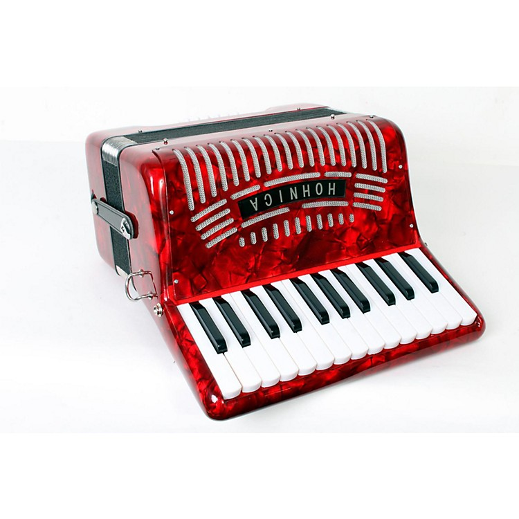 Hohner 12 Bass Entry Level Piano Accordion Red 888365812946