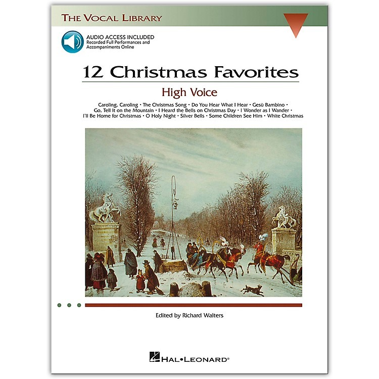 Hal Leonard 12 Christmas Favorites for High Voice Book/Online Audio