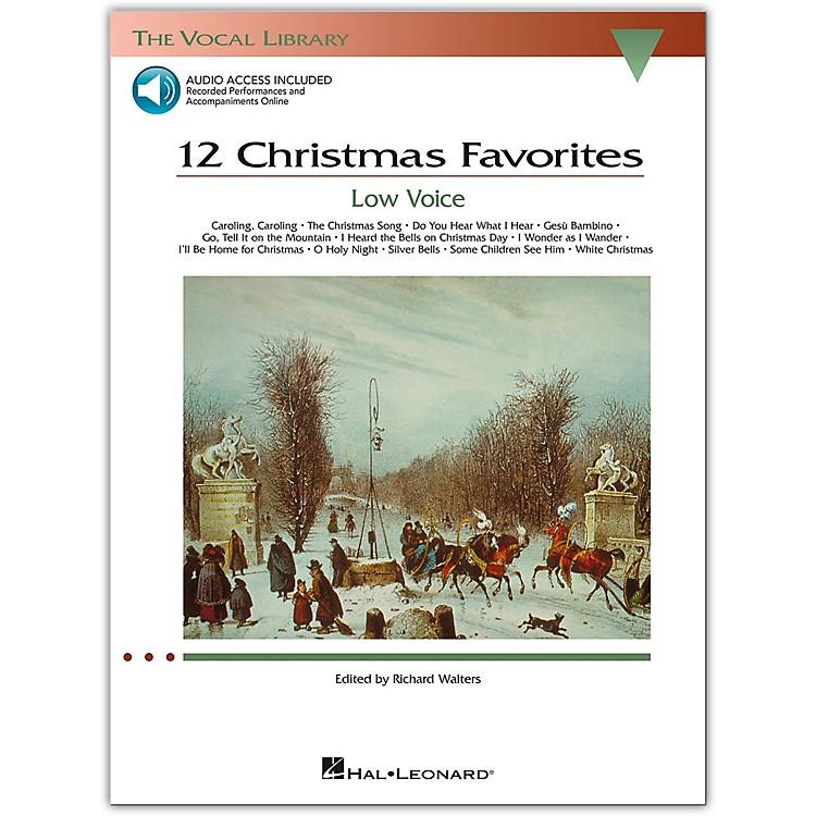 Hal Leonard12 Christmas Favorites for Low Voice Book/CD