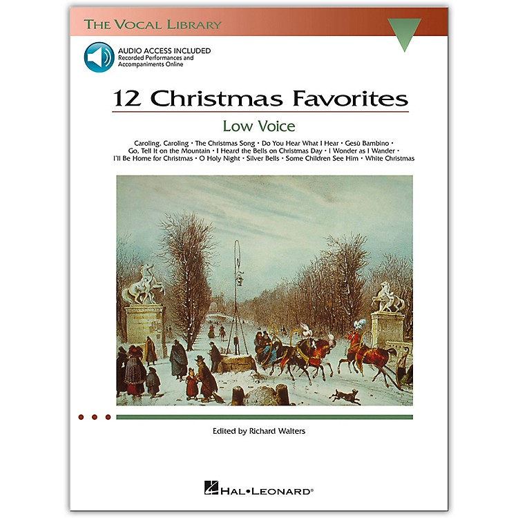 Hal Leonard12 Christmas Favorites for Low Voice Book/Online Media