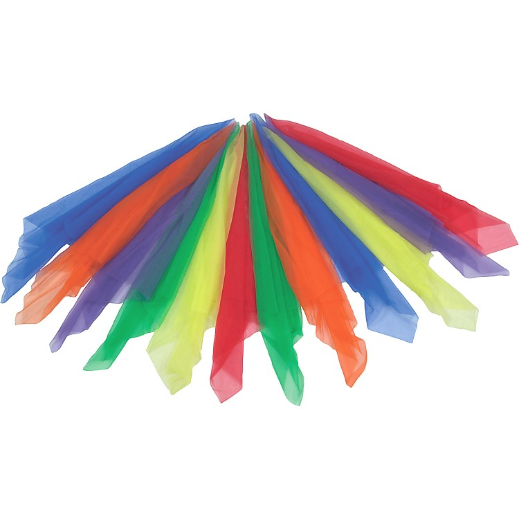 Rhythm Band12 Colored Scarves