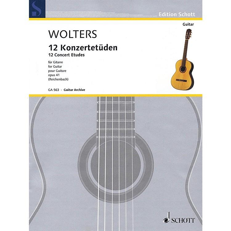 Schott12 Concert Etudes Op. 41 (for Solo Guitar) Guitar Series Softcover