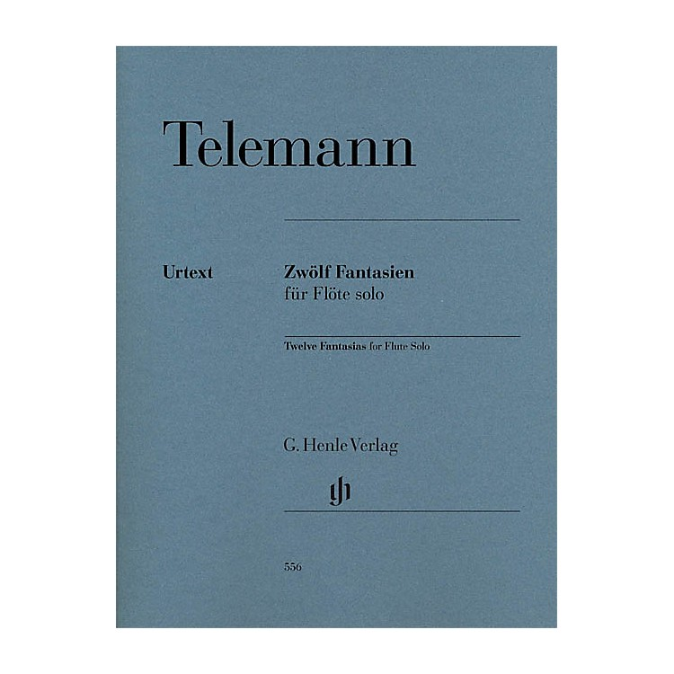 G. Henle Verlag12 Fantasias for Flute Solo TWV 40:2-13 Henle Music Softcover Composed by Telemann Edited by Marion Beyer