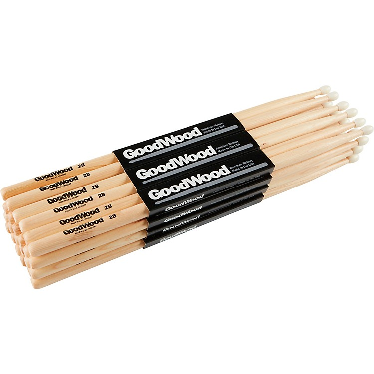 Goodwood 12-Pack Drumsticks 5B Wood