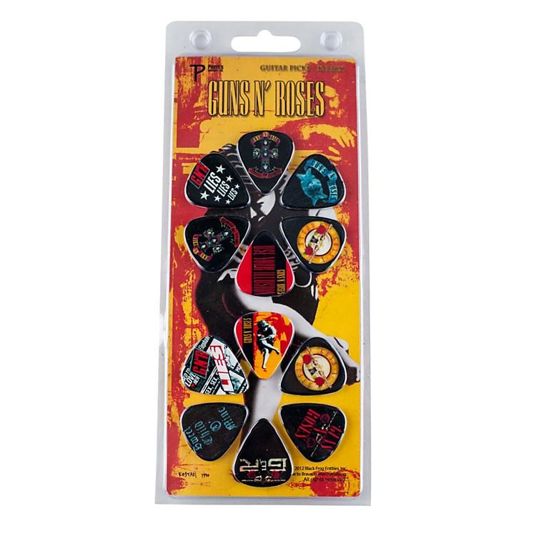 Perri's12 Pack Of Guns N Roses Guitar Picks - Med Gauge - Celluloid Plastic