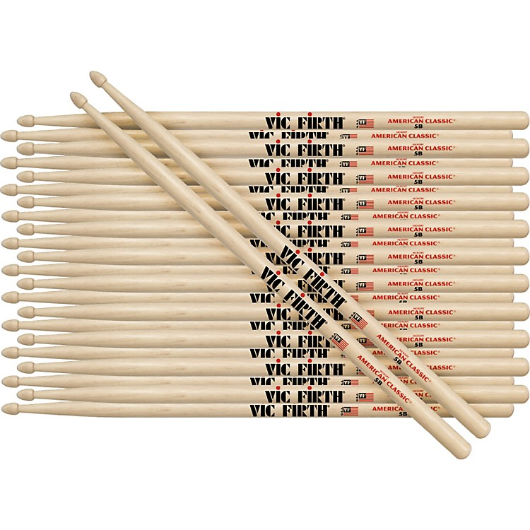 Vic Firth12-Pair American Classic Hickory DrumsticksNylon7A