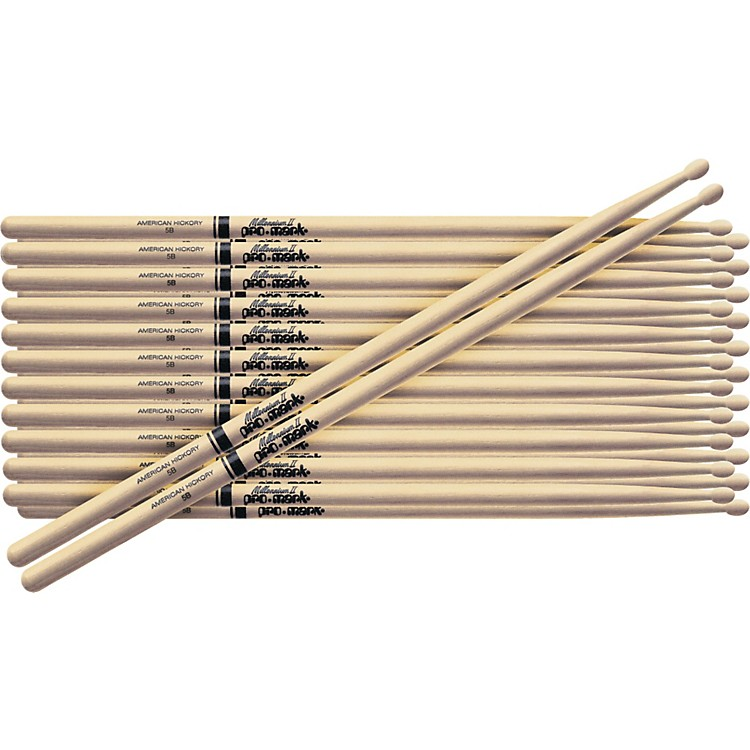 PROMARK12-Pair American Hickory DrumsticksWood2B