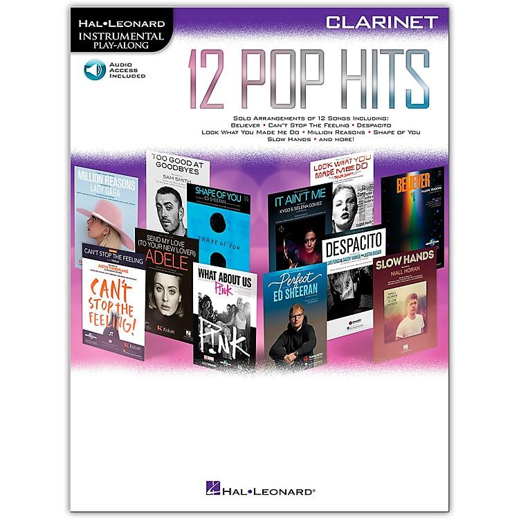 Hal Leonard12 Pop Hits for Clarinet Book/Audio Online