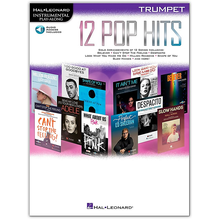 Hal Leonard 12 Pop Hits for Trumpet Book/Audio Online