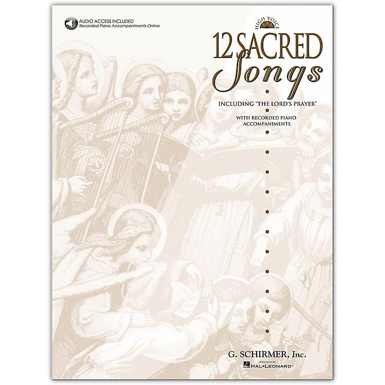 G. Schirmer12 Sacred Songs High Voice Book/Online Audio