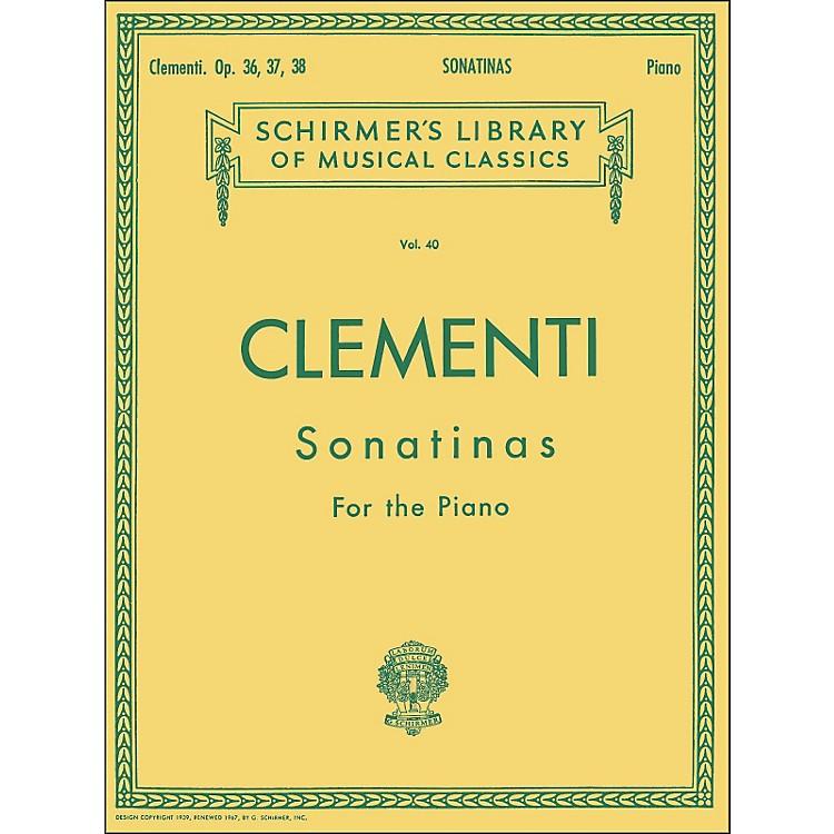 G. Schirmer12 Sonatinas Op 36 37 38 Piano By Clementi