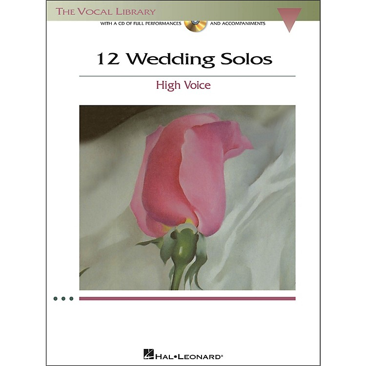 Hal Leonard12 Wedding Solos for High Voice (The Vocal Library) Book/CD
