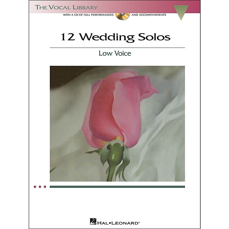 Hal Leonard12 Wedding Solos for Low Voice (The Vocal Library Series) Book/CD