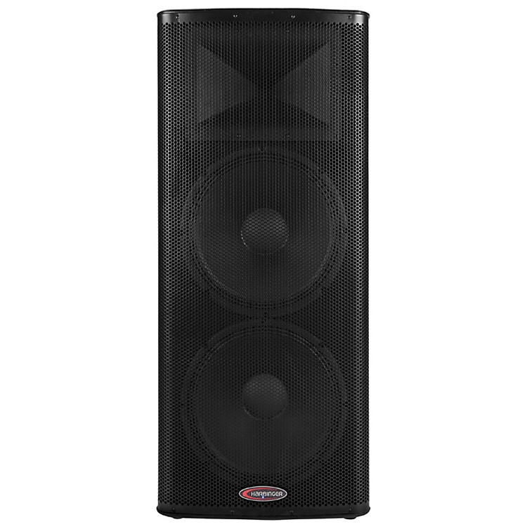 harbinger 1200w dual 15 powered speaker with bbe processing music123. Black Bedroom Furniture Sets. Home Design Ideas