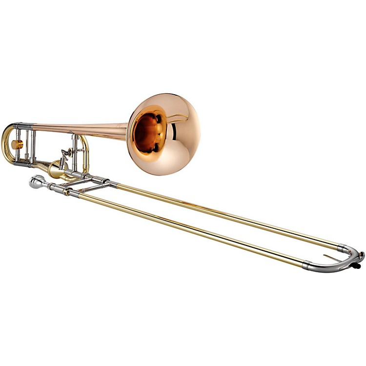 XO 1236 Professional Series F-Attachment Trombone with Thru-Flo Valve 1236RL-T Rose Brass Bell