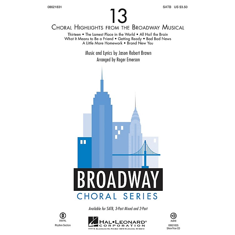 Hal Leonard13 (Choral Highlights from the Broadway Musical) ShowTrax CD Arranged by Roger Emerson