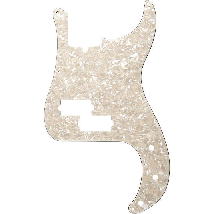 Fender 13 Hole Standard P Bass Pickguard Aged White Pearl