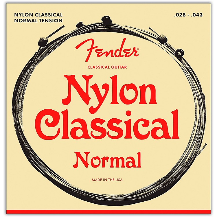 Fender 130 Clear/Silver Classical Nylon Guitar Strings - Ball End