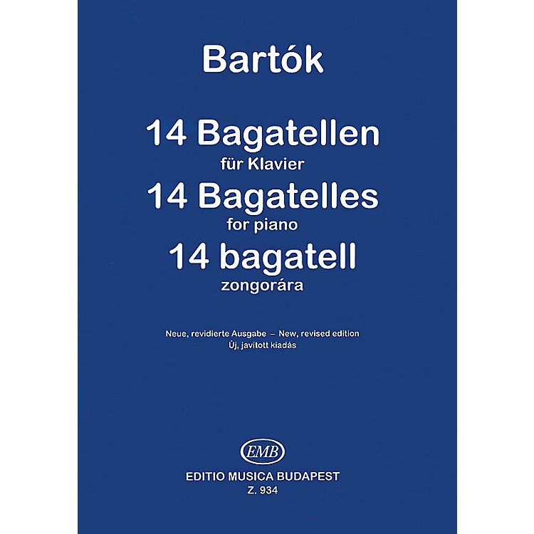 Editio Musica Budapest 14 Bagatelles, Op. 6 EMB Series Composed by Béla Bartók