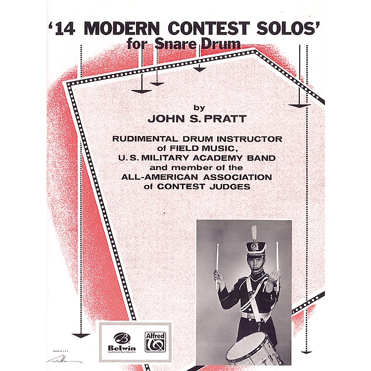 Alfred14 Modern Contest Solos for Snare Drum Book