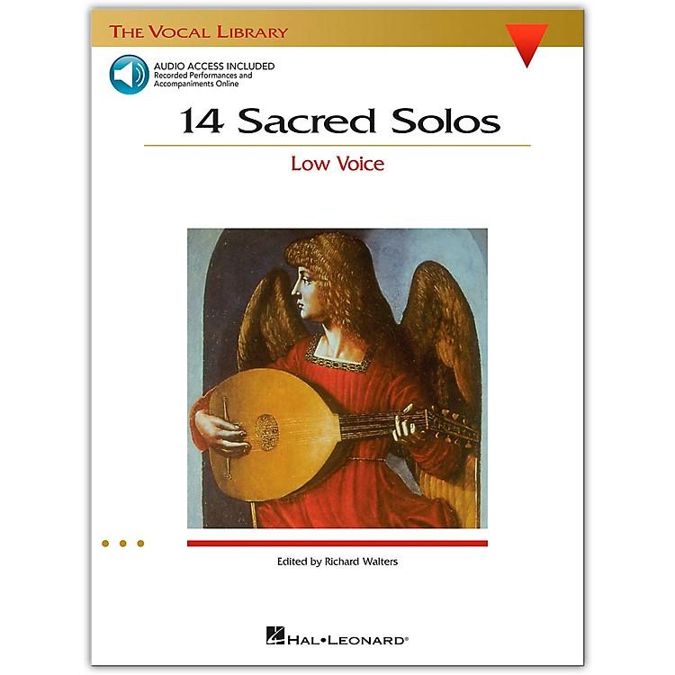 Hal Leonard14 Sacred Solos for Low Voice (Book/Online Audio)