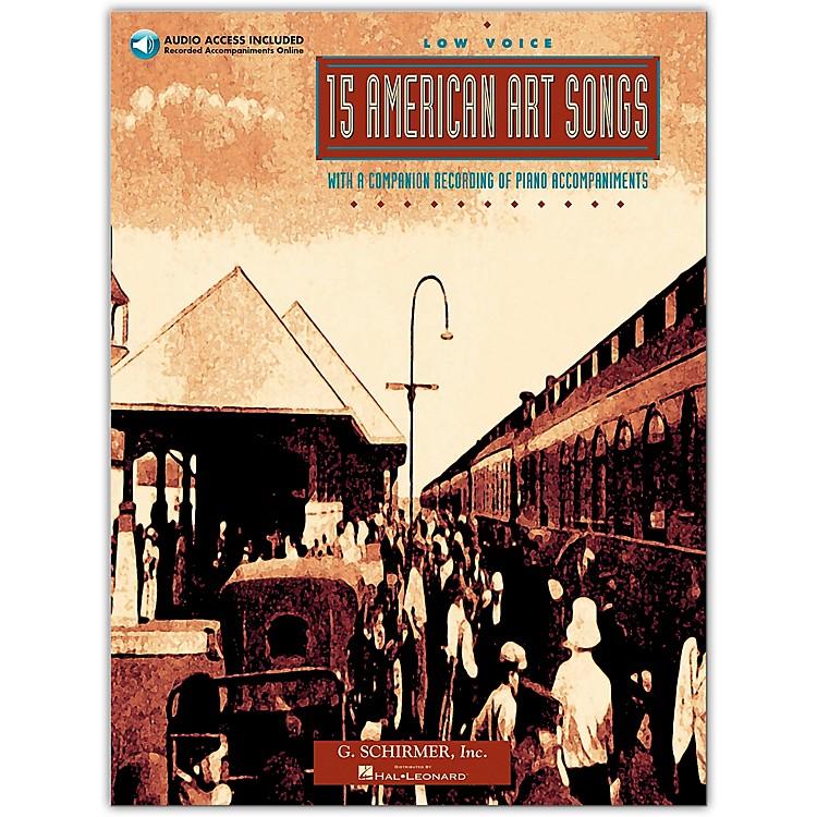 G. Schirmer15 American Art Songs for Low Voice Book/CD