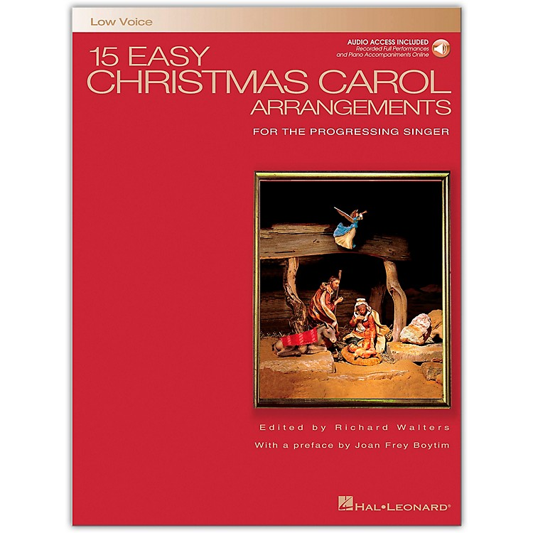 Hal Leonard 15 Easy Christmas Carol Arrangements for Low Voice Book/Online Audio