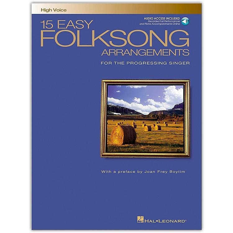 Hal Leonard15 Easy Folksong Arrangements for High Voice (Book/Online Audio)