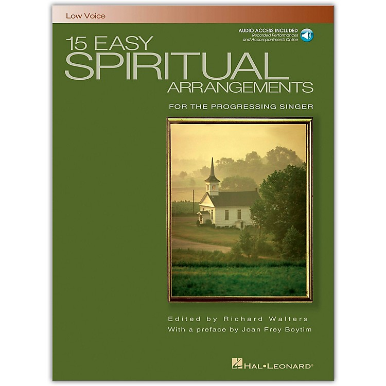Hal Leonard15 Easy Spiritual Arrangements for Low Voice Book/Online Audio