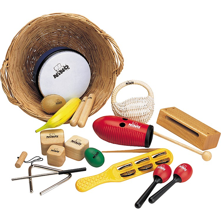 Nino15-Piece Percussion Assortment with Basket