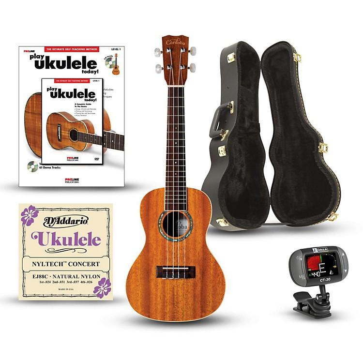 Cordoba15CM Concert Ukulele Deluxe BundleNatural