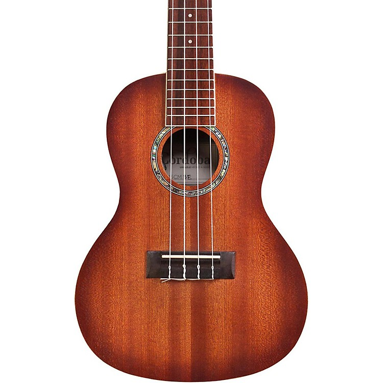 Cordoba 15CM-E Concert Acoustic-Electric Ukulele Edge Burst