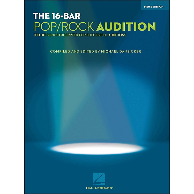 Hal Leonard16 Bar Pop/Rock Audition Men's Edition