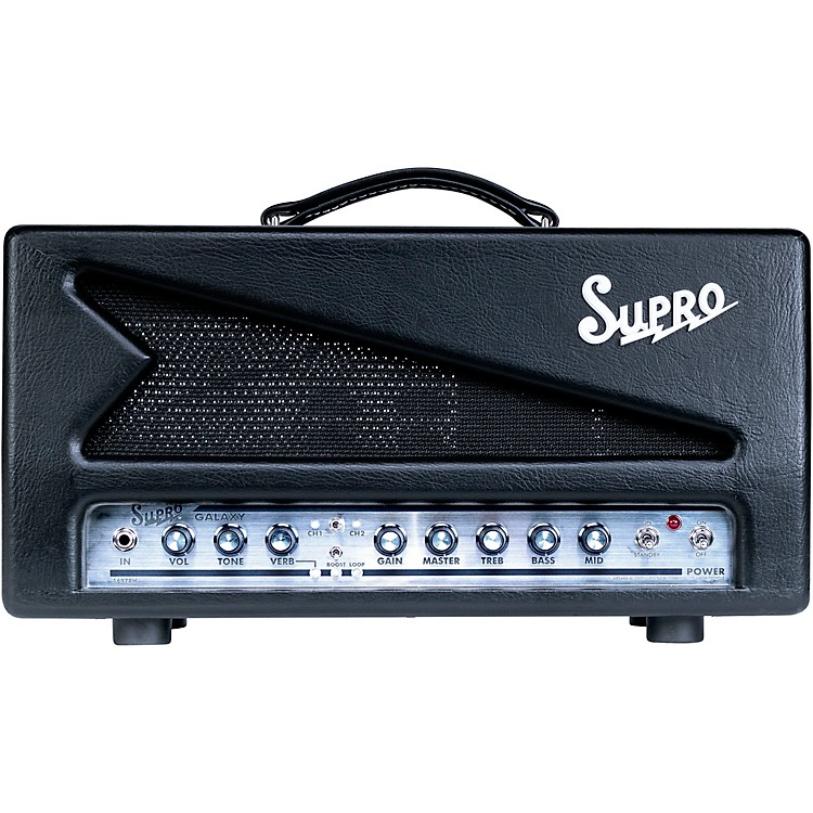 Supro 1697RH Galaxy 50W Tube Guitar Amp Head Black