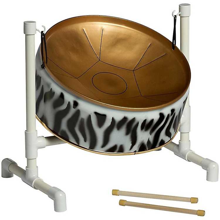 Fancy Pans 16WT Wild Things Pentatonic Steel Drum Zebra Print