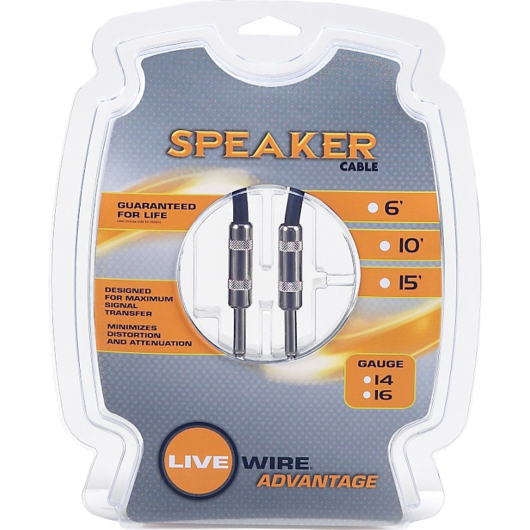 Livewire 16g Speaker Cable  10 ft.