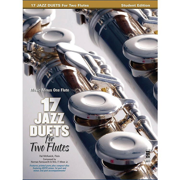 Music Minus One17 Duets for Two Flutes Music Minus One Series Softcover with CD