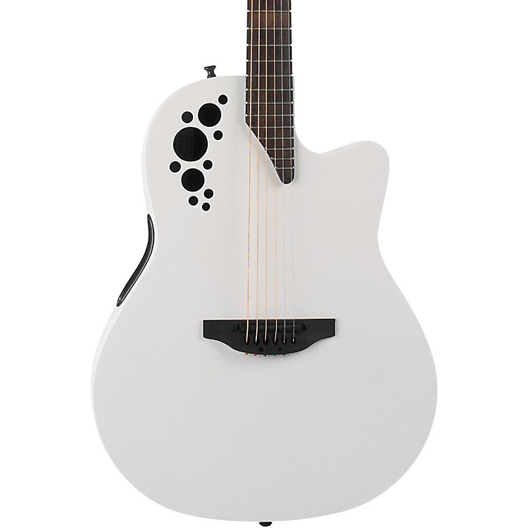 Ovation 1778TX-6S  Elite TX Acoustic-Electric Guitar Satin White