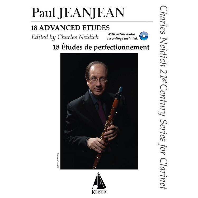 Lauren Keiser Music Publishing18 Advanced Etudes LKM Music Series BK/2 CDs Composed by Paul Jeanjean Edited by Charles Neidich
