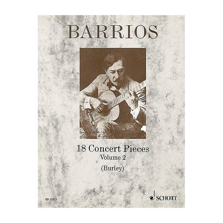 Schott18 Concert Pieces for Solo Guitar - Volume 2 Schott Series