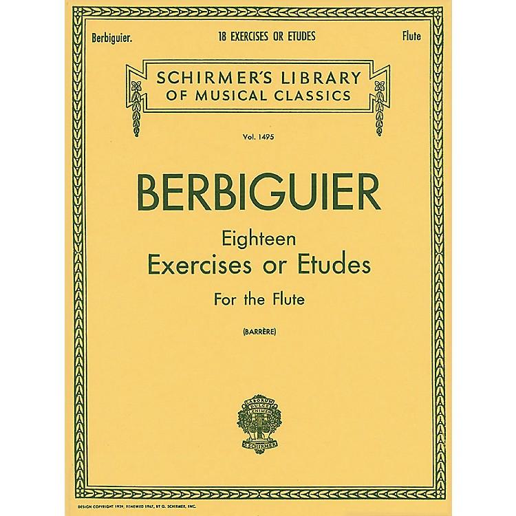 G. Schirmer18 Exercises or Etudes (Flute)