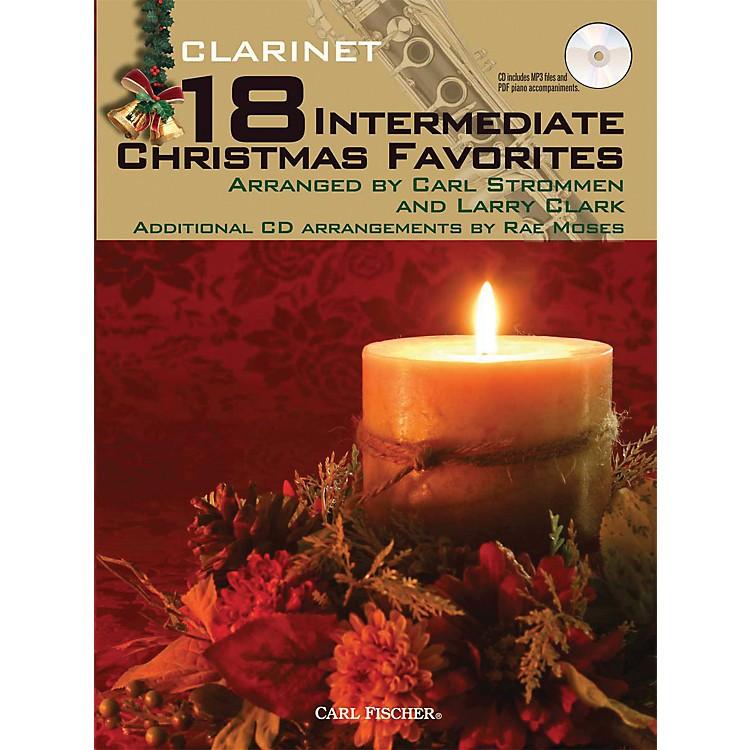 Carl Fischer18 Intermediate Christmas Favorites - Clarinet Book/CD