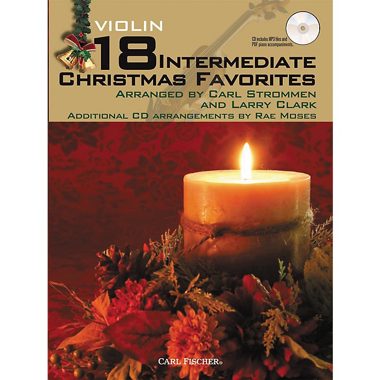 Carl Fischer 18 Intermediate Christmas Favorites - Violin Book/CD