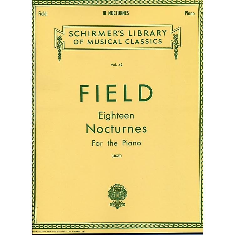 G. Schirmer 18 Nocturnes for The Piano By Field