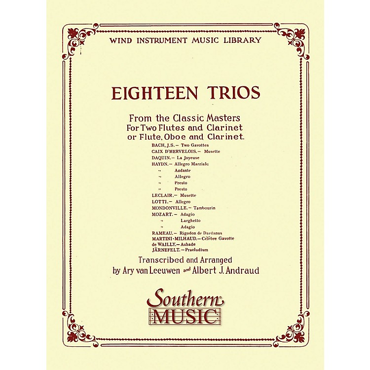 Southern18 Trios (Complete) from Classic Master (Woodwind Trio) Southern Music Series Arranged by Albert Andraud