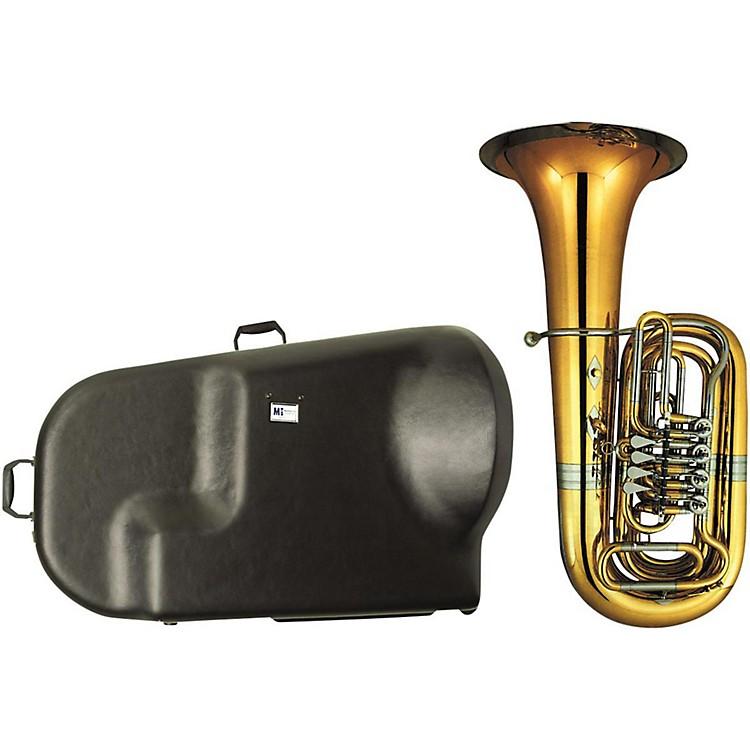 Miraphone186-4U Series 4-Valve Yellow Brass BBb Tuba with Hard Case