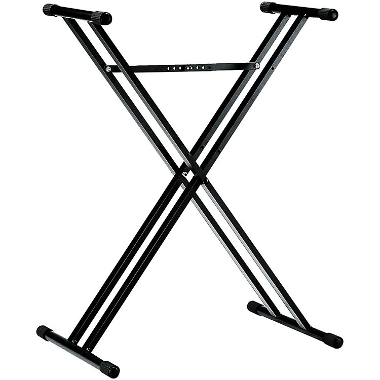 K&M18963.071.55 X-Style Double Braced Keyboard StandBlack