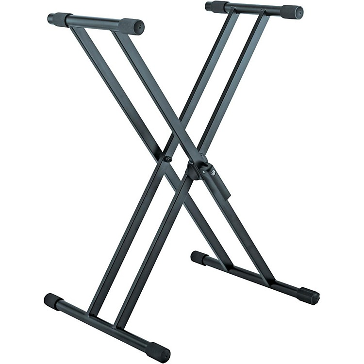 K&M 18990.015.55 X-Style Double Braced Professional Keyboard Stand Black