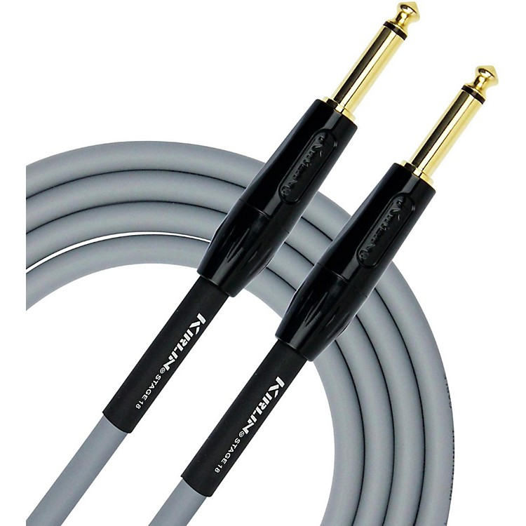 KIRLIN18AWG Stage Instrument Cable with Gray PVC Jacket20 ft.