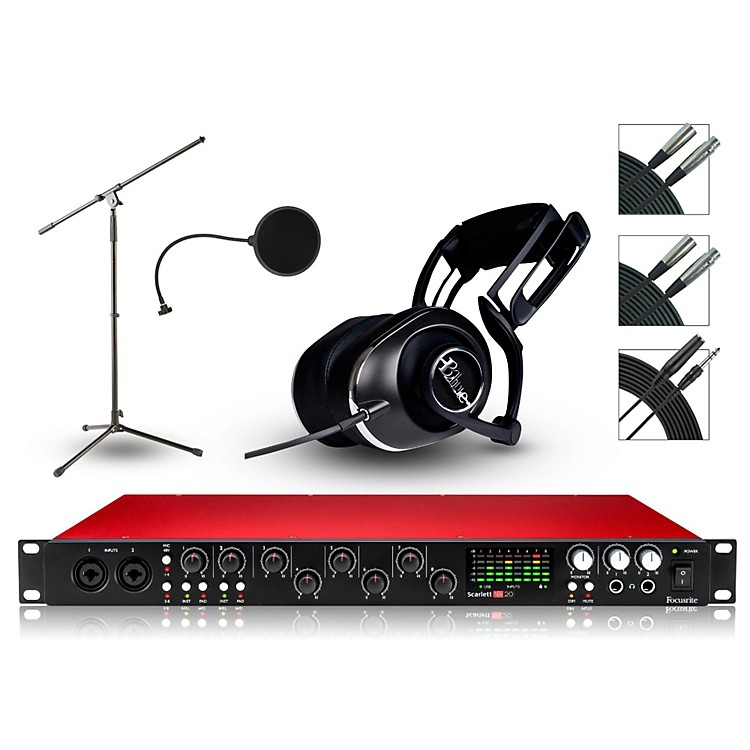 Focusrite 18i20 Recording Bundle with Blue Headphones